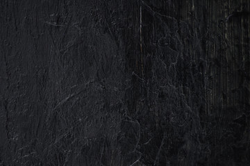 Hand Painted Heavily Textured Coal Tar Black Acrylic Paint Background