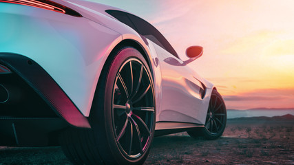 The image in back of the sports car scene.