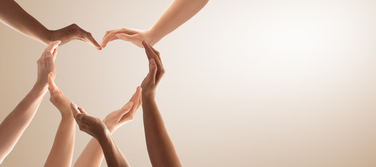 The concept of unity, cooperation, teamwork and charity.