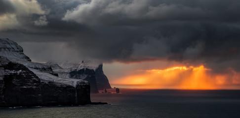 Streymoy Eysturoy cliffs