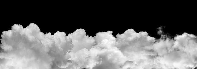 clouds or smoke isolated on black background