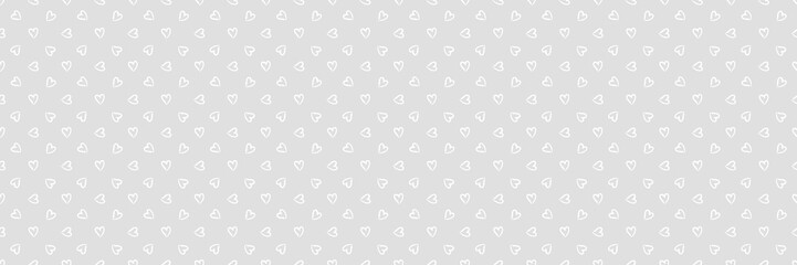 Background with hearts. Seamless monochrome wallpaper on surface. Black and white illustration. Print for polygraphy, banners and textiles. Doodle for your design