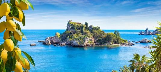 Isola Bella, small island near Taormina, Sicily, Italy