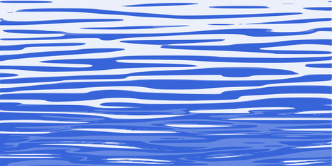 Ripples and water waves, sea surface. Vector natural background.