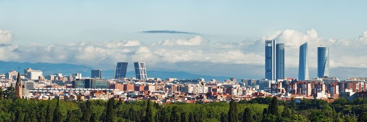 Madrid rooftop view