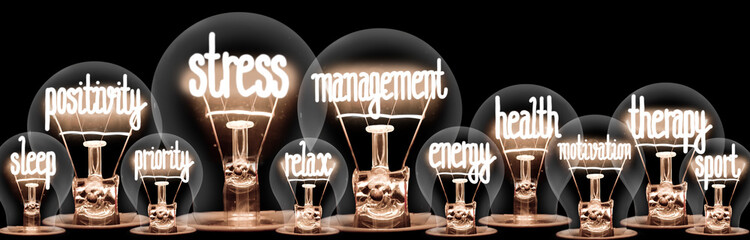 Light Bulbs with Stress Management Concept