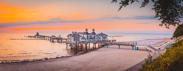 Sellin Pier at sunrise, Baltic Sea, Germany