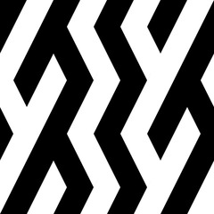 Seamless pattern with oblique black bands