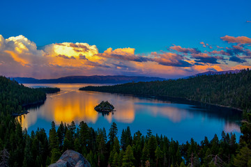 Sunset in Emerald Bay, South Lake Tahoe