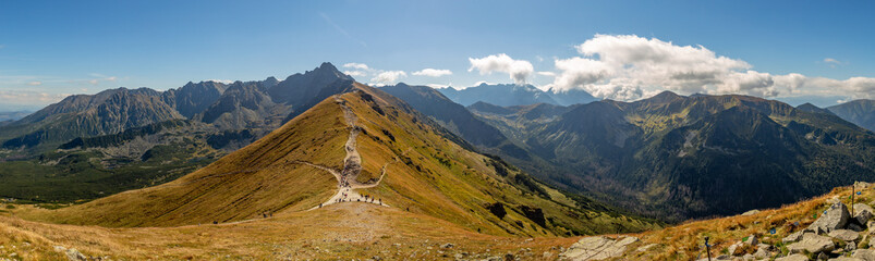 Panorama góry polskie, tatry