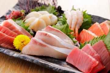 刺身の盛り合わせ Japanese plate of Assorted Sashimi