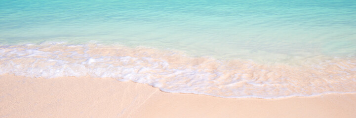 Sand and ocean panoramic background, summer concept