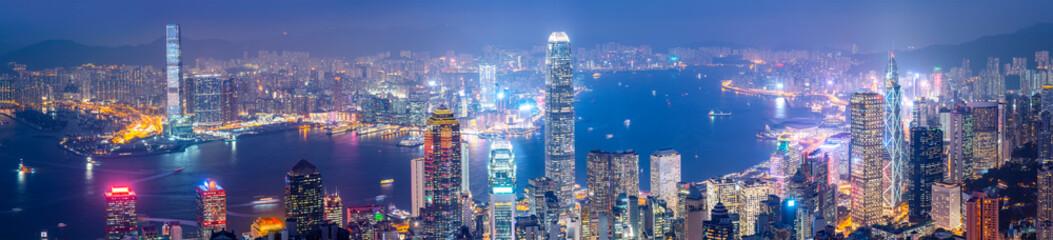 Beautiful night view of Hong Kong..