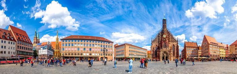 Panorama, Hauptmarkt, Nürnberg, Deutschland