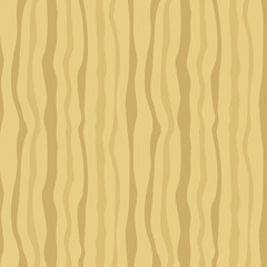 Seamless pattern with wavy vertical lines. Beige and brown stripes. Hand drawing painting background. Backdrop, background, fabric, wallpaper