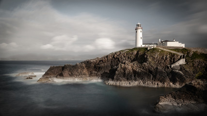 The famous Irish Fanad Lighthouse located in north west Co Donegal, Ireland.