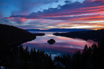 South Lake Tahoe - Emerald Bay Sunrise in Winter