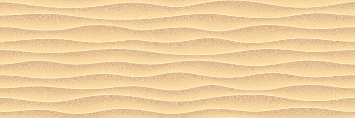 Sea yellow sand. Vector seamless pattern