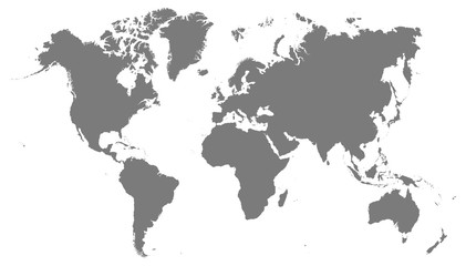 World map grey illustration high details