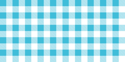 Classic kitchen tablecloth or picnic, checkered blue and white