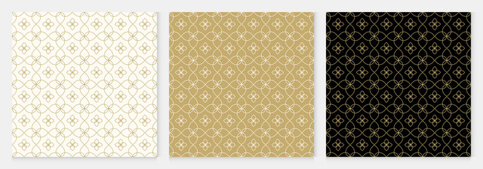 Background pattern seamless geometric line floral design abstract gold luxury color vector. Christmas background.