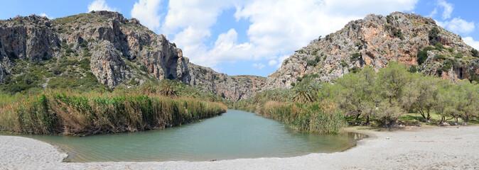 Panorama Prevelischlucht auf Kreta