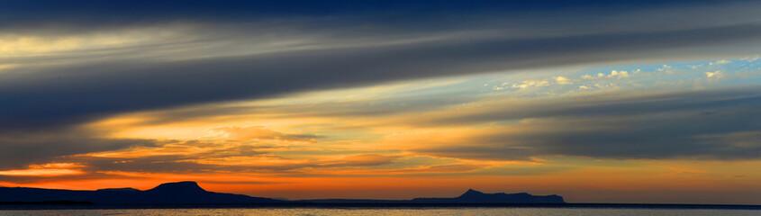 Panorama Abend bei Rethymnon, Kreta