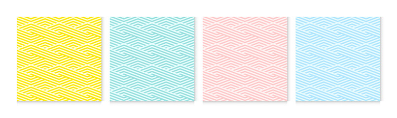 Background pattern seamless wave abstract colorful pastel colors. Summer background design.