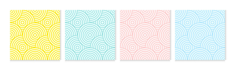 Background pattern seamless circle abstract colorful pastel colors. Summer background design.