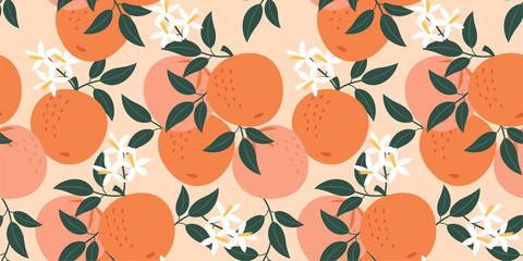 Orange pattern. Vector seamless texture.
