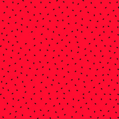 Watermelon seeds seamless pattern isolated on red background