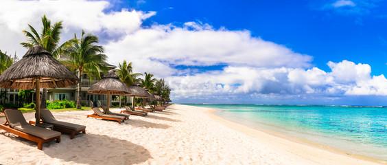 Best tropical beach destination - paradise island Mauritius, Le Morne beach