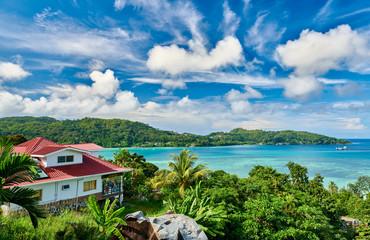 Overlook of Seychelles bay, Mahe island