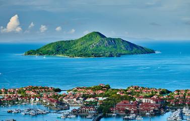 Overlook of Eden Island, Seychelles, Mahe island