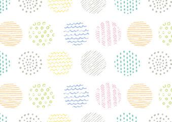手描き色鉛筆スタンプ背景パターン