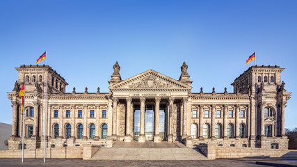 trhe famous reichstag building in berlin