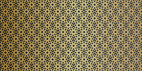Luxury gold black arabic ramadan background. vector ornamental seamless patterns. Collection of geometric patterns in the oriental style.