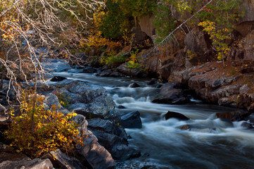 Autumn at Horserace Rapids on Michigan's Paint River.