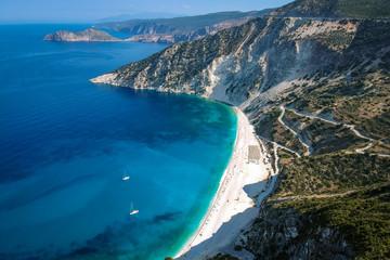 Myrtos beach at Kefalonia
