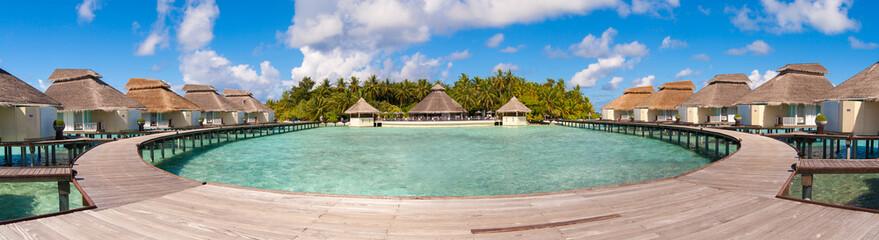 Maldives water villa - bungalows panorama