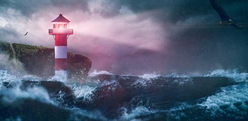 Leuchtturm Meer Sturm