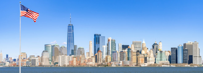 Lower Manhattan panorama new york