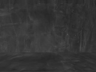 Old black background. Grunge texture. Dark wallpaper. Blackboard. Chalkboard. Concrete.