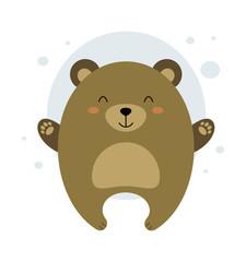 Illustration of a teddy bear. Image of a teddy bear. Character bear