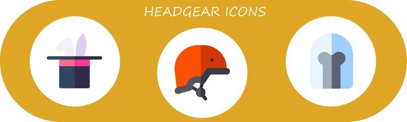Modern Simple Set of headgear Vector flat Icons