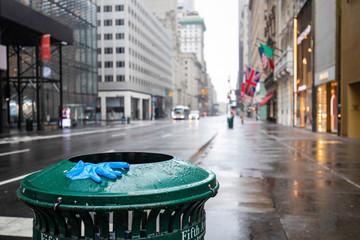 Empty streets of New York City during Coronavirus quarantine