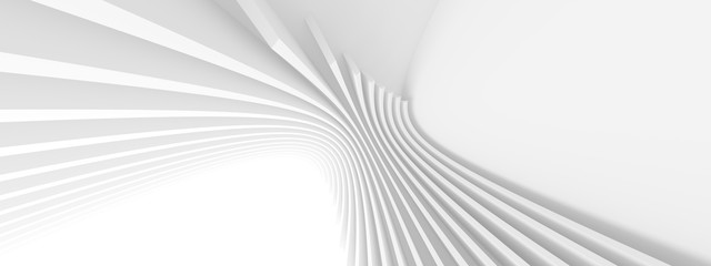 Abstract Architecture Background. Minimal Graphic Design. White Geometric Wallpaper