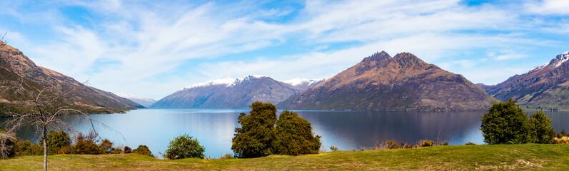 Lake Wakatipu panoramoc view, New Zealand