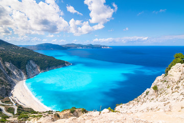 Beautiful landscape of Myrtos beach - Kefalonia Island - Greece