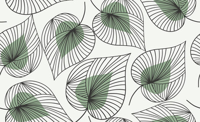 Seamless floral pattern.  Vector hand draw floral background